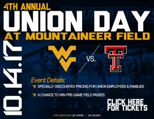 Union Day at Mountaineer Field @ MOUNTAINEER FIELD | Morgantown | West Virginia | United States